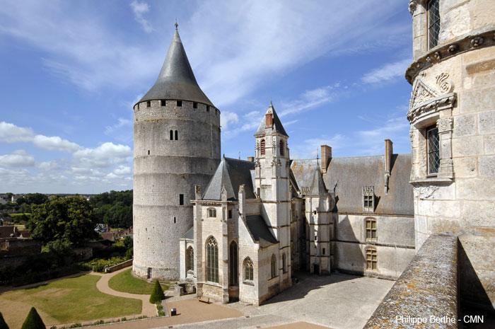 monuments et châteaux de la Loire ouverts toute l'année château de Châteaudun