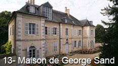 monument et châteaux de la Loire ouverts toute l'année Maison de George Sand