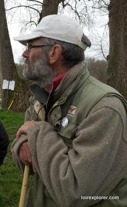 transhumance des moutons de Sologne en Val de Loire à Pouilly sur Loire, Berger Bernard Girard