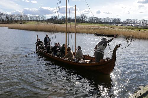 langskip bateau pour les invasions barbares vikings