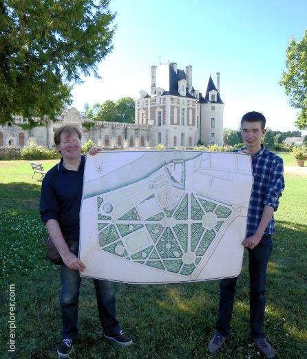 château de Selles sur Cher, plan de jardin à la française Georg Kabierske