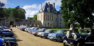 visite du Château de Selles sur Cher voiture ancienne ronde des chataignes