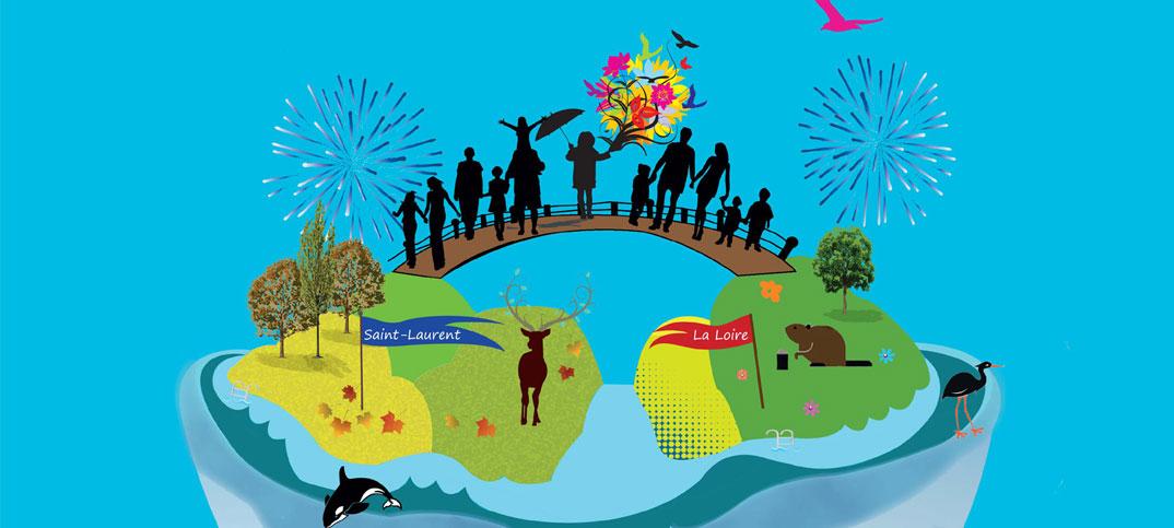 Festivité en bord de Loire - Biennale des grands fleuves du Monde