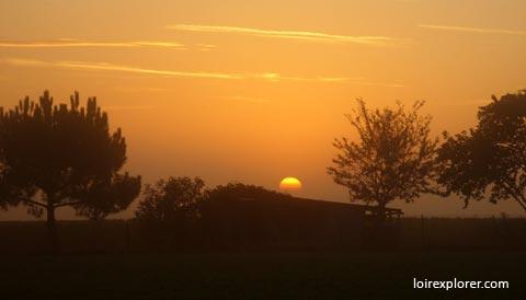 Levé de soleil en Val de Loire LoireXplorer astronomie