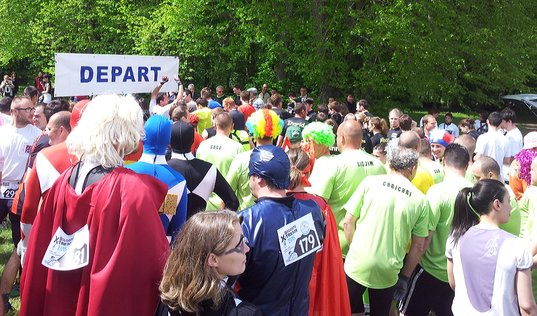course à obstacles Sologne Xtreme départ des coureurs à pied