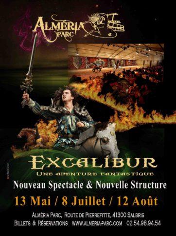 Spectacle équestre Excalibur en Sologne
