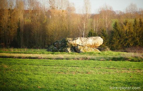 Dolmen de la Pierre à Moulins sur Céphons mégalithe menhir néolithique préhistoire région Centre Indre