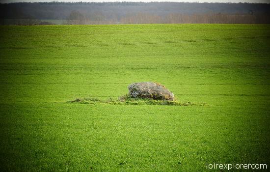 mégalithes en région Centre dolmen de la Pierre levée à Graçay dolmen néolithique préhistoire Cher