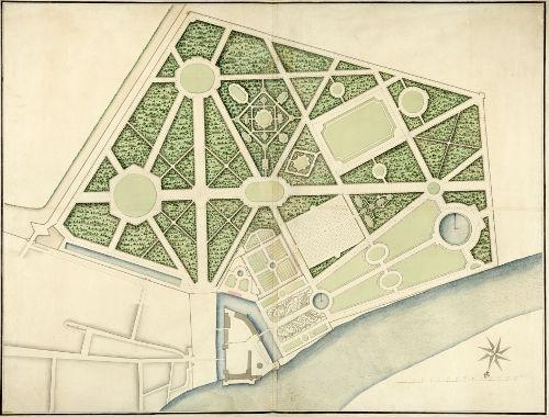 Plan d'aménagement du parc jardin deu Château de Selles sur Cher
