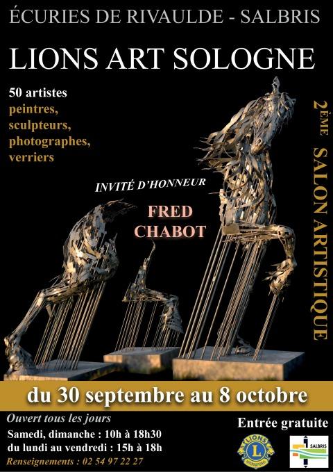 2e salon Lions Arts Sologne du 30 septembre au 8 octobre 2017 aux Écuries de Rivaulde à Salbris