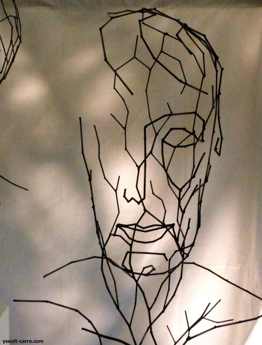 Isabelle Fauve-Piot « Conscience de l'être 5 » (détail) - Jardin de sculptures de la Biennale de Sologne 2017 copyright Yseult Carré