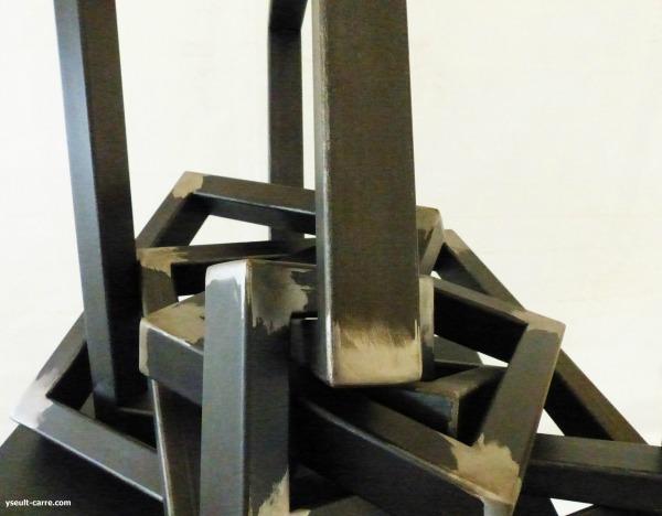 Julien Guarneri « Verrouiller évolution V » (détail) - Jardin de sculptures de la Biennale de Sologne 2017 copyright Yseult Carré