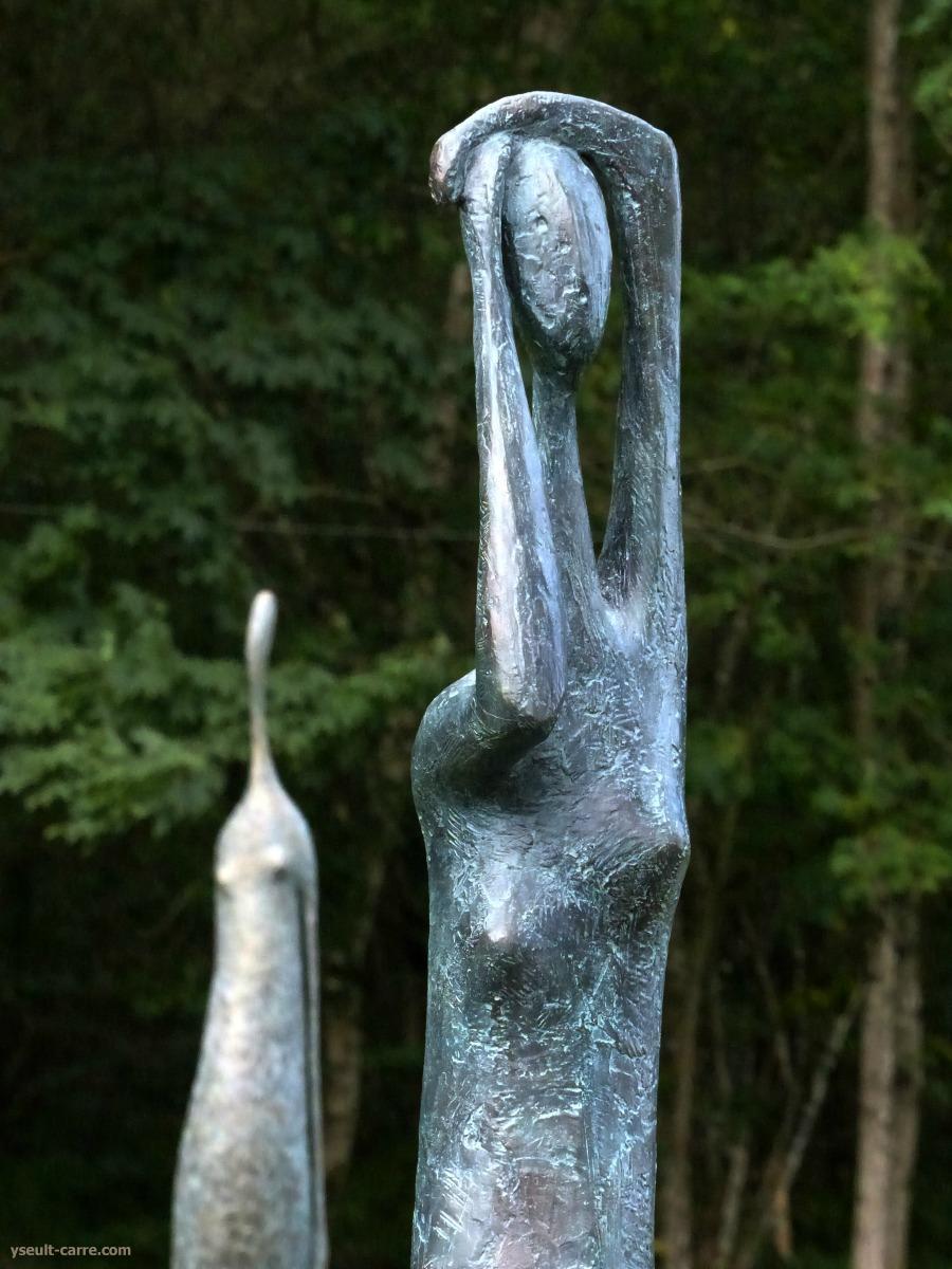 Pierre Yermia « Grande figure debout » (détail) - Jardin de sculptures de la Biennale de Sologne 2017 copyright Yseult Carré