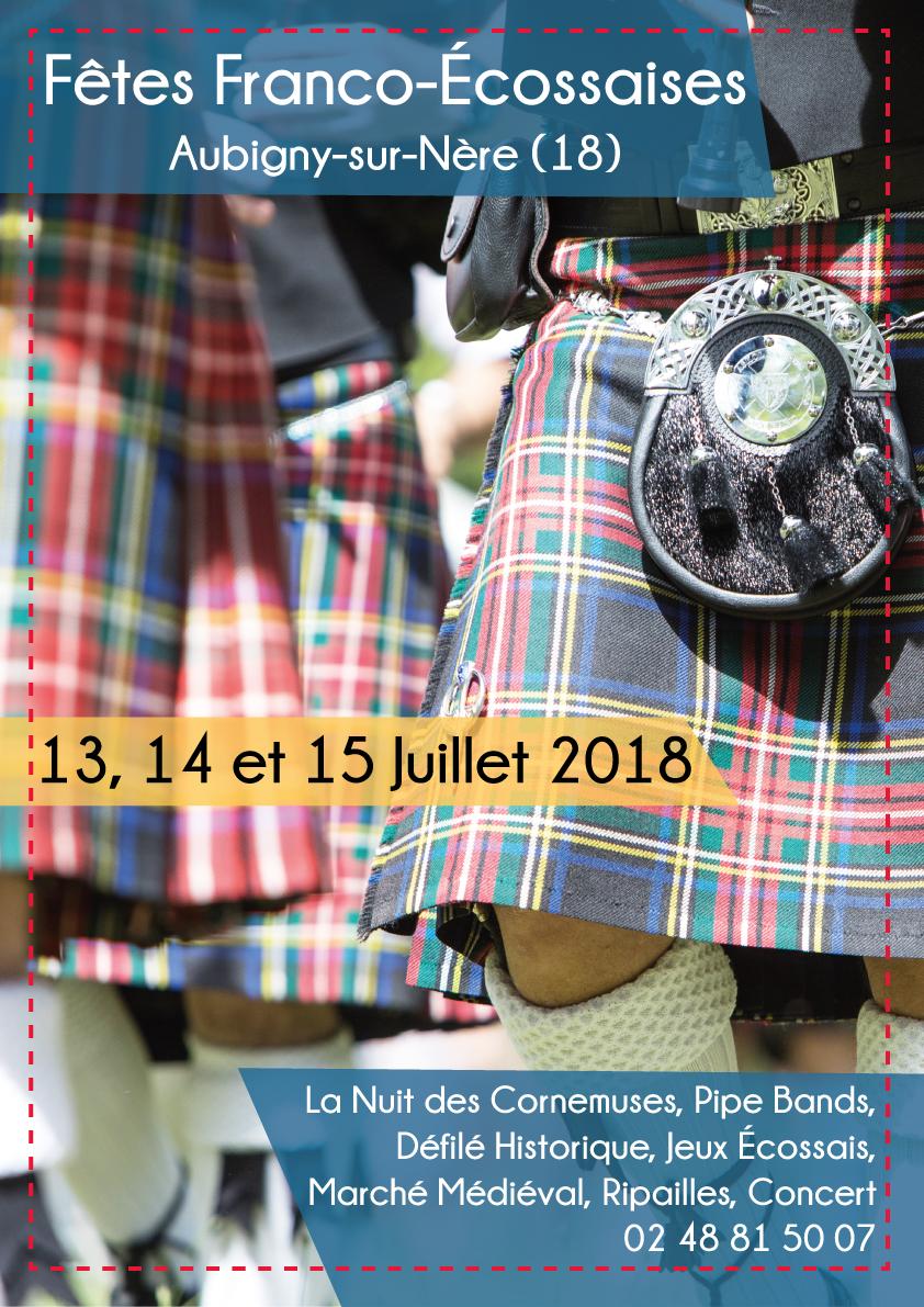 Les Fêtes Franco Écossaises à Aubigny-sur-Nère en Sologne