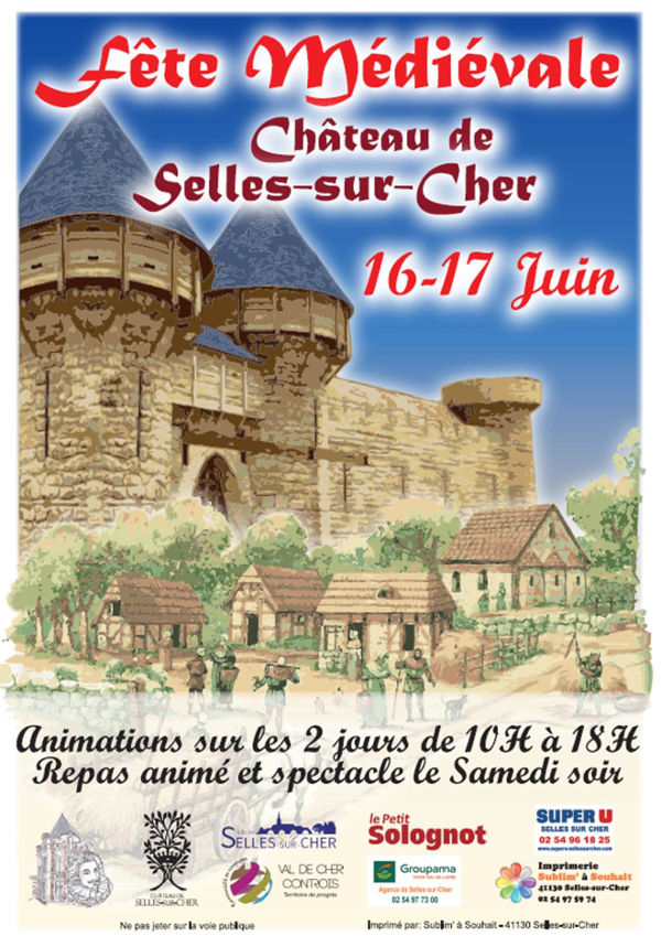 fête médiévale château de Selles sur Cher